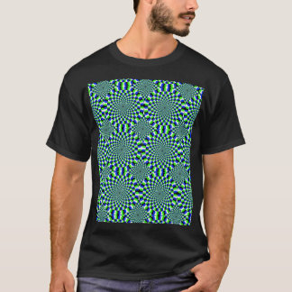 Optical Illusion Expansion Turning Wheels Spinning T-Shirt