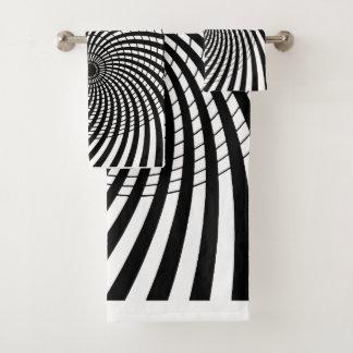OPTICAL ILLUSION Geometric Art Hypnotic Designs Bath Towel Set