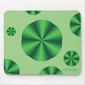 Optical Illusion Green Mousepad