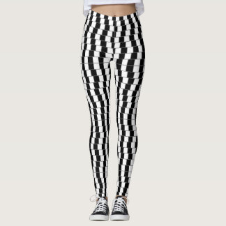 Optical Illusion Leggings - Black/White