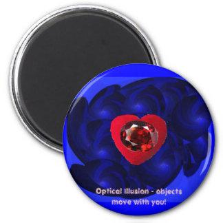 Optical Illusion-Magnet 6 Cm Round Magnet