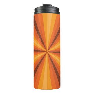 Optical Illusion Orange Thermal Tumbler
