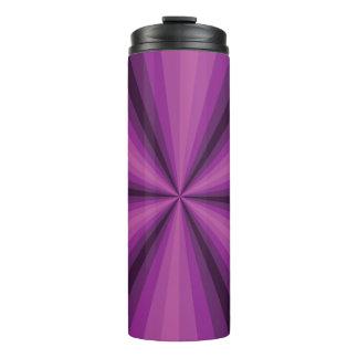 Optical Illusion Purple Thermal Tumbler