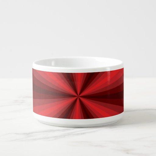 Optical Illusion Red Chili Bowl