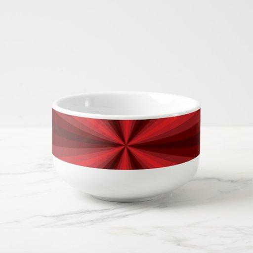 Optical Illusion Red Soup Mug