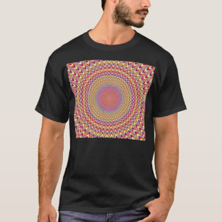 Optical Illusion Throbbing Alive Rainbow Trippy T-Shirt
