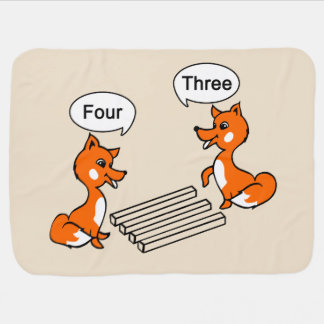 Optical illusion Trick Fox Baby Blanket