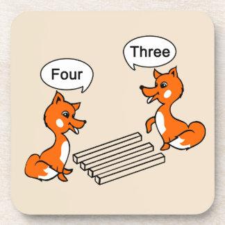 Optical illusion Trick Fox Coaster
