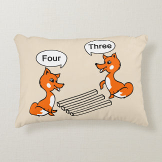 Optical illusion Trick Fox Decorative Cushion