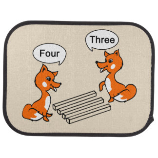 Optical illusion Trick Fox Floor Mat