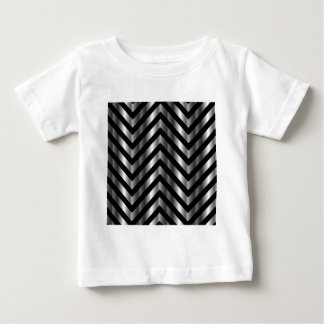 Optical illusion with metal bars and zig zag lines t-shirt