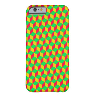 Optical illusion - yellow/talk/green barely there iPhone 6 case