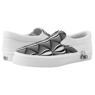 Optical Illusion Zips Shoes Printed Shoes