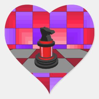 Optical Knight Chess CricketDiane 2013 Heart Sticker