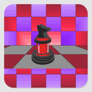 Optical Knight Chess CricketDiane 2013 Square Sticker