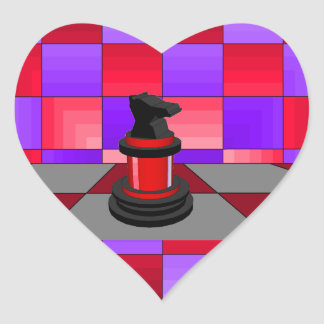 Optical Knight Chess CricketDiane 2013 Heart Stickers
