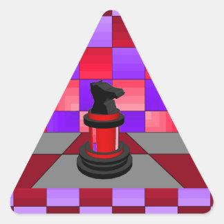 Optical Knight Chess CricketDiane 2013 Triangle Sticker
