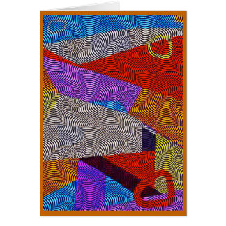 Optical Relation Abstract Pop Art Greeting Card