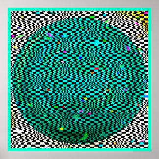 Optical Sea World Modern Abstract Art Poster