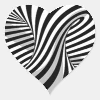 optical tricks heart sticker