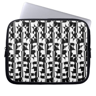 Optical Violin Illusion Laptop Sleeve