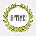 Optime! Excellent job! Round Sticker