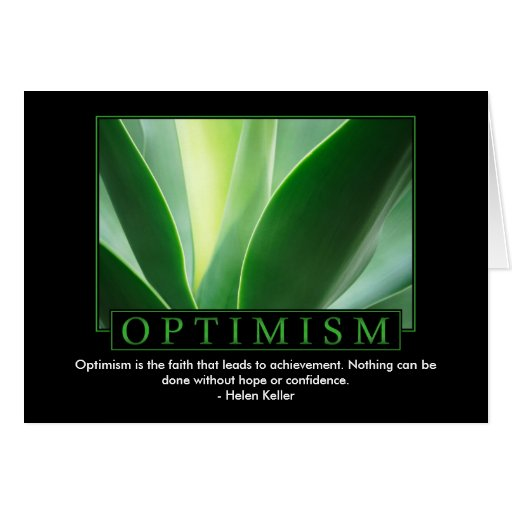 Optimism Greeting Cards