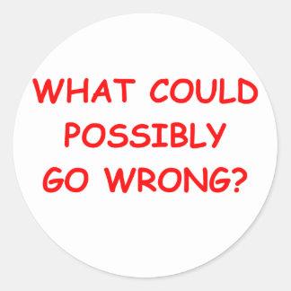 optimism round sticker