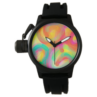 Optimistic Colorful Spiral Watch