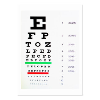 optometrist business card templates