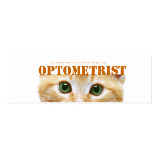 Optometrist Business card with cats eyes