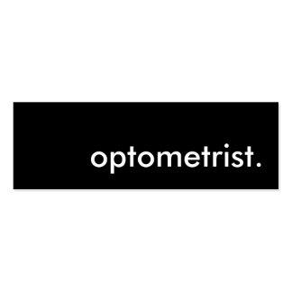 optometrist. business cards