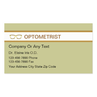 416 eye doctors business cards and eye doctors business for Optometrist business card
