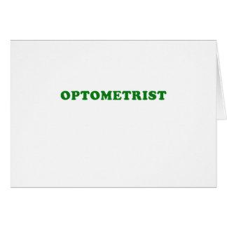 Optometrist Card