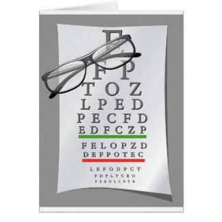 Optometrist Chart Greeting Cards