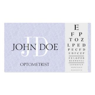 Optometrist Chart Light Blue Business Cards