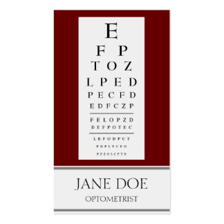 Optometrist Chart Red Rose Business Card Templates