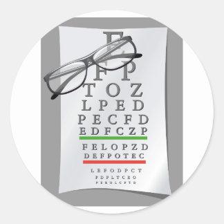 Optometrist Chart Stickers
