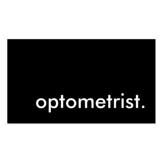 optometrist. (color customizable) pack of standard business cards