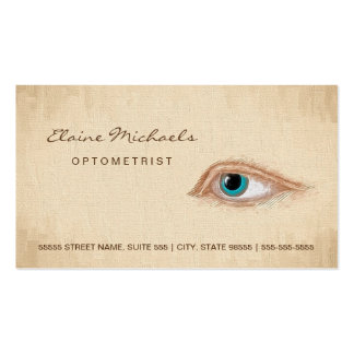 Optometrist Eye Appointment Classic Illustration Pack Of Standard Business Cards