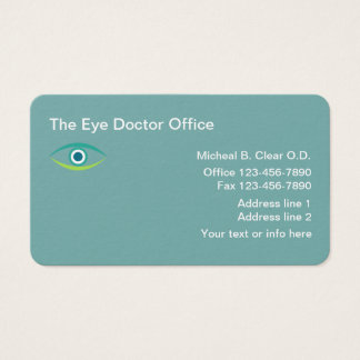 Optometrist Eye Doctor Business Card