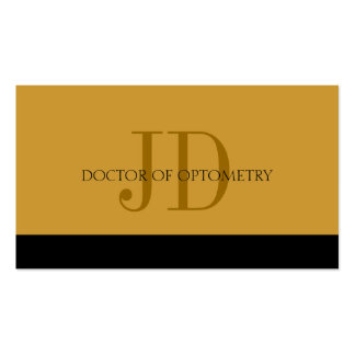 Optometrist Gold/Gold Business Card