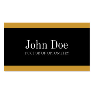 Optometrist Gold/Gold Business Card Templates