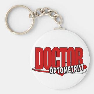 OPTOMETRIST LOGO DOCTOR BIG RED KEY RING