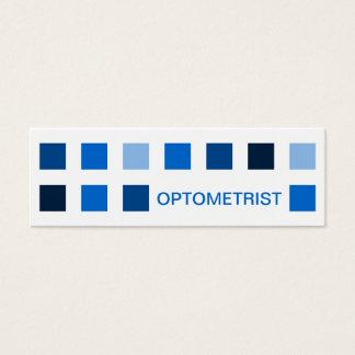 OPTOMETRIST (mod squares) Mini Business Card