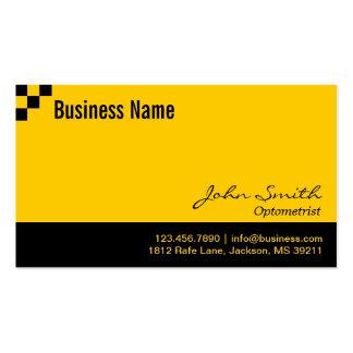 Optometrist Modern Black & Gold Pack Of Standard Business Cards