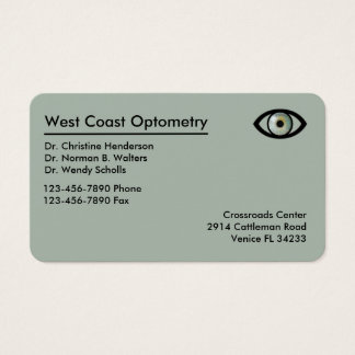 Optometrist Modern Businesscards Business Card