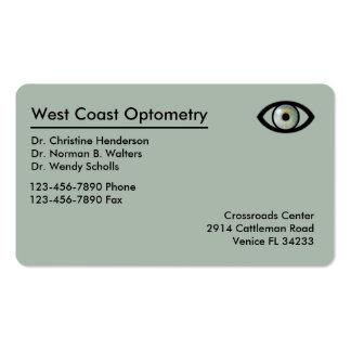Optometrist Modern Businesscards Pack Of Standard Business Cards