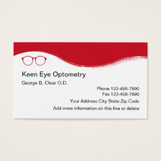 Optometrist Modern Design Business Card