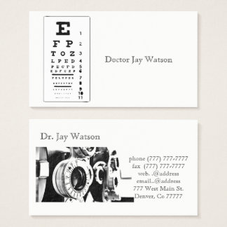 Optometrist Ophthalmologist Eye Destiny Destiny'S Business Card